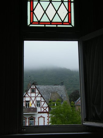 Haus Weller: The early-morning view from the turret window (the fog cleared later!)