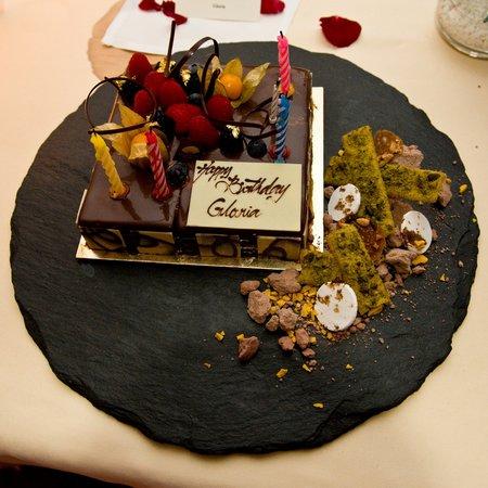 Astonishing The Custom Built Tiramisu Birthday Cake Picture Of Dolce Vita Funny Birthday Cards Online Necthendildamsfinfo