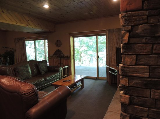 Wilderness Resort: family room area with walkout patio
