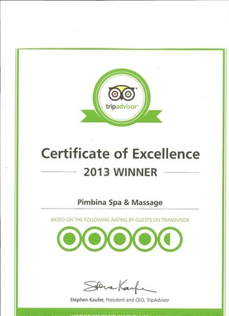 Pimbina Spa & Massage : prix excellence tripadvisor