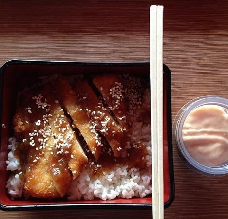 Hoka-Hoka Bento: chicken katsuri for lunch.