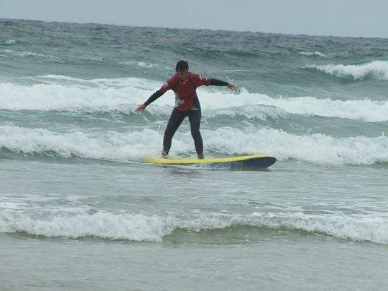 Ticket to Ride Surf School: Alison surfing