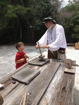 Fort Menendez at the Old Florida Museum: Fun time learning