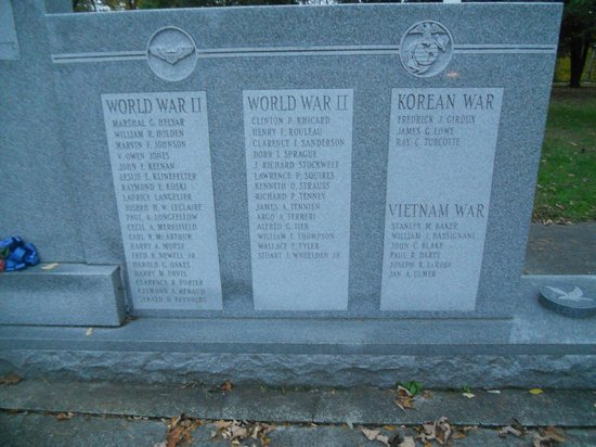 Brattleboro Common: Memorial for all  Bratt soldiers in all wars