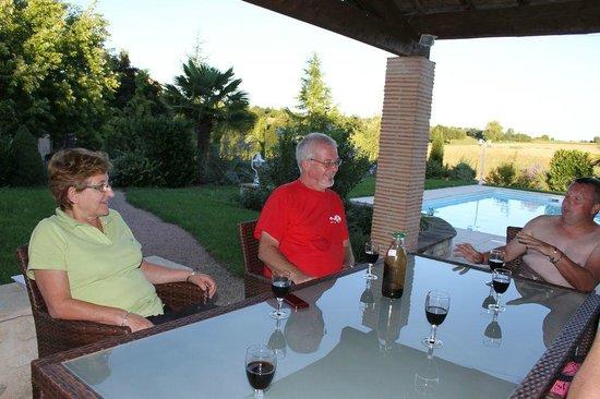 Le Mas Bleu : Martine et Alain