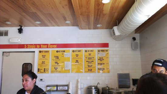 Menu behind the counter Ordering is simplified Picture