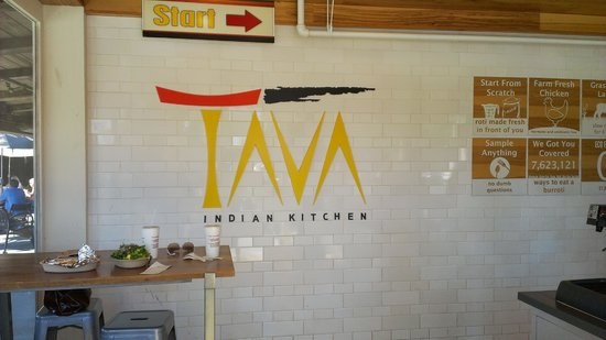 New menu board Picture of Tava Kitchen Palo Alto