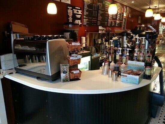 Tazza Cafe: their espresso station