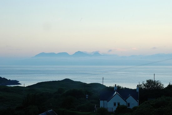 Heatherlea: View of Rhum from the bedroom