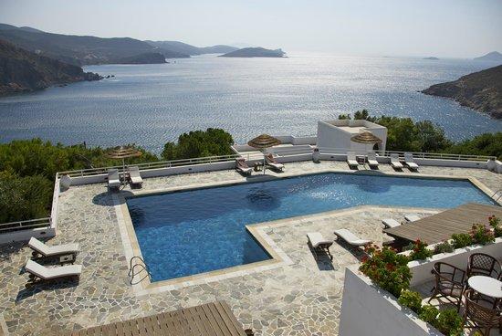 Patmos Paradise Hotel : suite vista mare e piscina