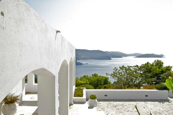 Patmos Paradise Hotel: vista colazione