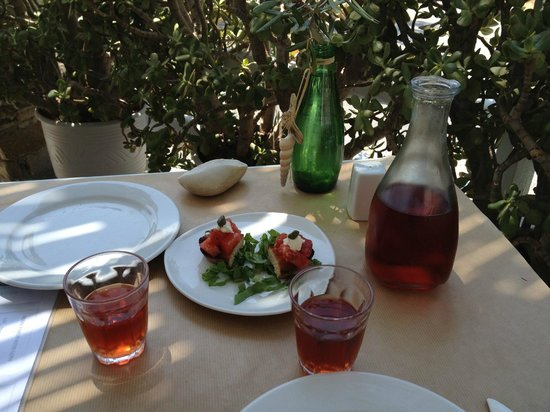Karina All day Taverna: Complimentary Appetizer alongside our deliciously dry rose.