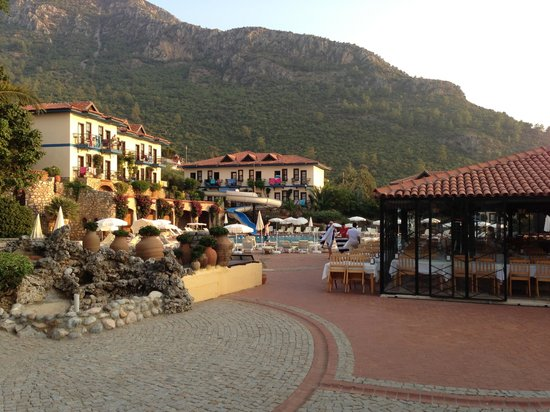 Castelleo's: View of Hisaronu from restaurant