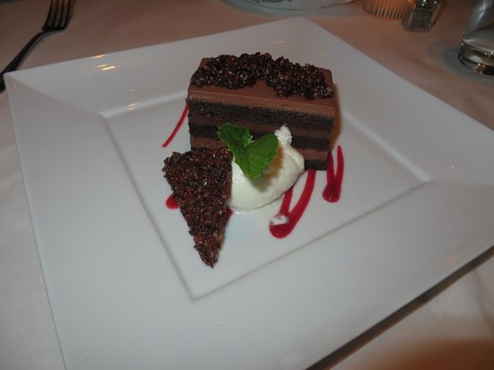 The Stained Glass: Chocolate Ganache Dessert at Stained Glass