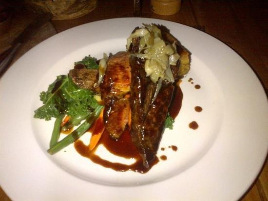 The Bison Restaurant : bison rib steak
