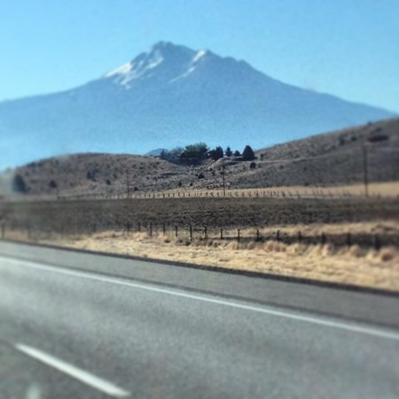 Black Bear Diner - Mt. Shasta : Shasta from the road just before breakfast!