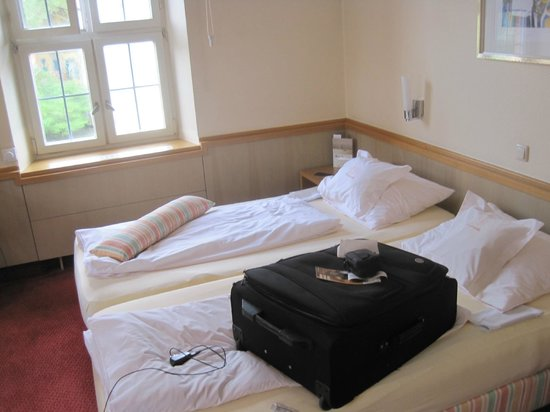 Hotel Brudermühle: Room with two beds
