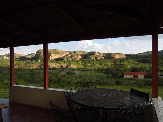 Tierra Chamahua EcoAdventures at Rancho Los Banos: View from the porch at the lodge