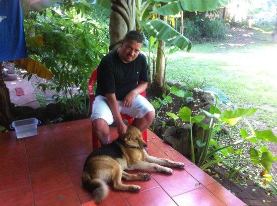 Cabanas Koro Nui: Junto a ono el perro del lugar super mansito