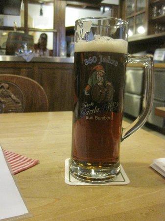 Brauereigasthof Faessla: dark beer