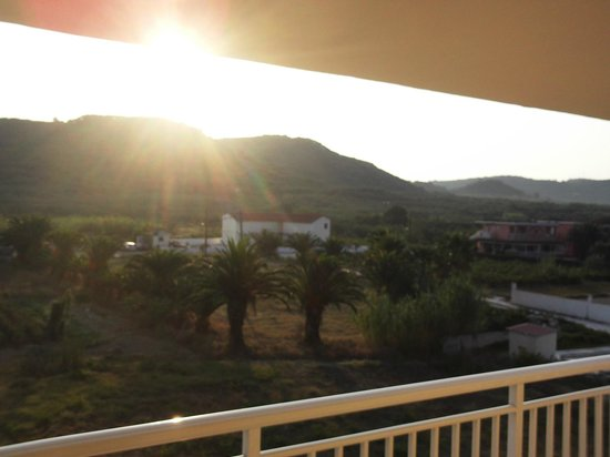 Danny's Hotel: watching the sun rise from our balcony