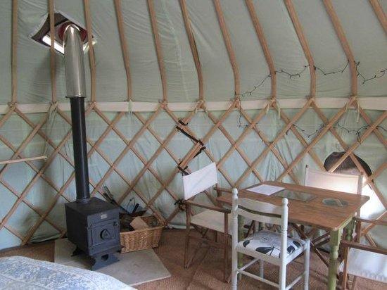 Ivy Grange Farm Yurt Holidays: inside