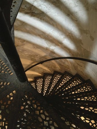 Cana Island Lighthouse: A section of the 97 steps to the top