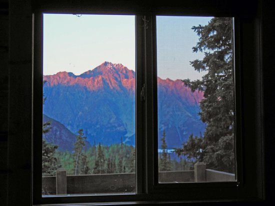 Tundra Rose Guest Cottages: Morning View from inside the Cabin