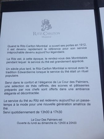 The Ritz-Carlton, Montreal : Ritz Carlton Montréal