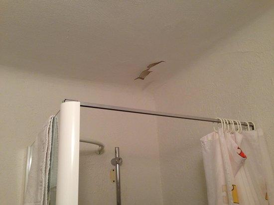 Hotel des Colonnes : Plafond de la douche