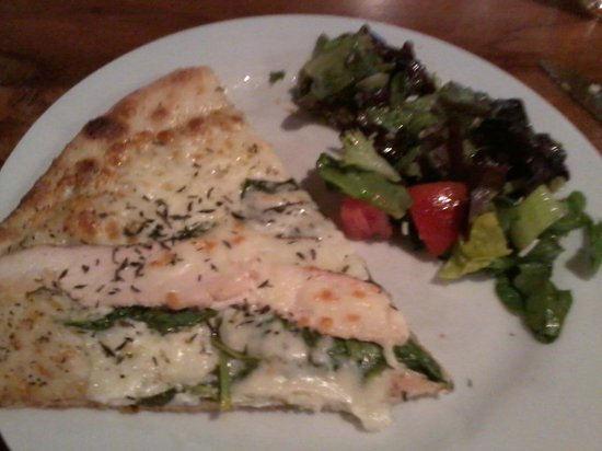 Flatbread of Englewood: 1 piece of pizza and a small bit of my salad