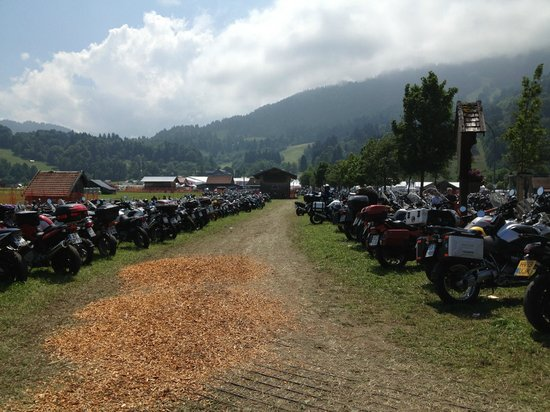 Gaestehaus Hohenzollern : This is only a small part of motorcycles that arrived to the festival.