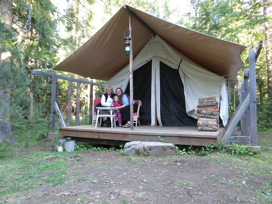 Three generations in a tent. - Picture of Huckleberry Tent and Breakfast  North Idaho, Clark Fork - Tripadvisor