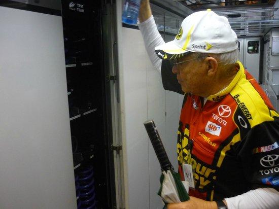 Michael Waltrip's Raceworld: Assortment of springs on hand for race in Hauler