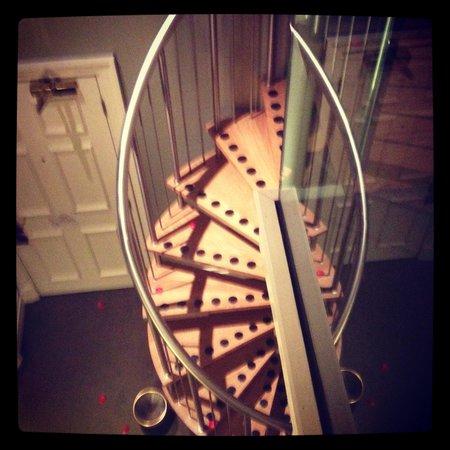 Quebecs: Stair case in suite
