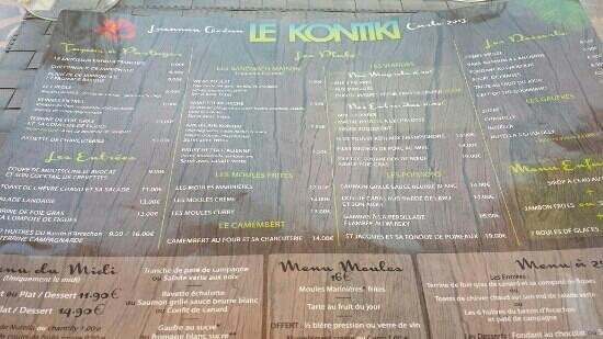 Le Kontiki : carte