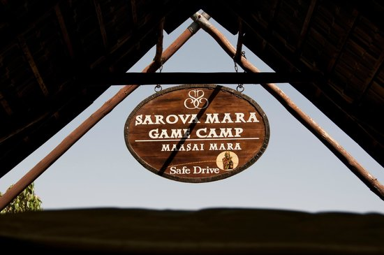 Sarova Mara Game Camp: Entrance sign