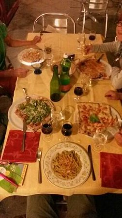 Lo Scoiattolo : Our table with food
