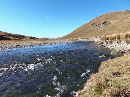 Ancash Region, Peru: El río Santa muy cerca de sus inicios