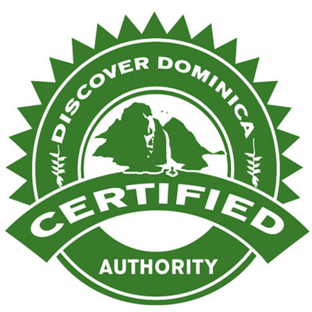 Sunshine Cottage: Certification from Discover Dominica Authority