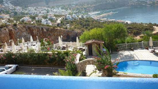 Likya Residence and Spa : View of Kalkan from the pool