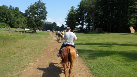 Stony Creek Ranch Resort: horse back riding trail