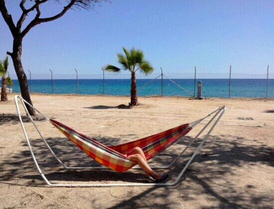 Camping Bella Terra: Vue sur la mer depuis l'emplacement :)
