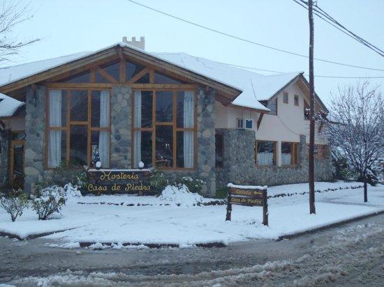 Hosteria Casa de Piedra : nieve de agosto