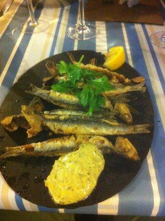 La Pecherie Ducamp: Friteur d'Anchois - starter
