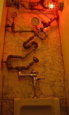 Industrial Cafe and Saloon: Men's room with turbo flush