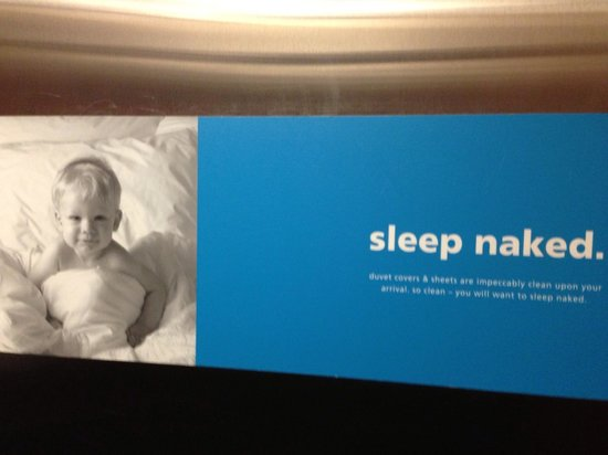 Hampton Inn Watertown: I don't care. I still want him in diapers.