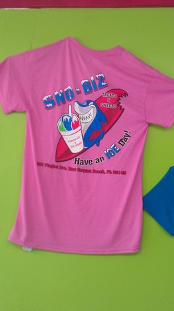 "Sno-Biz Treats & Sweets: ""Join the 10% club"" Buy a shirt and get 10% off entire bill when you wear it into the shop."