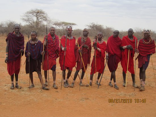 Porini Amboseli Camp: Masai warriors
