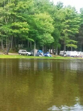 Sturbridge RV Resort: A view of our site from the pond